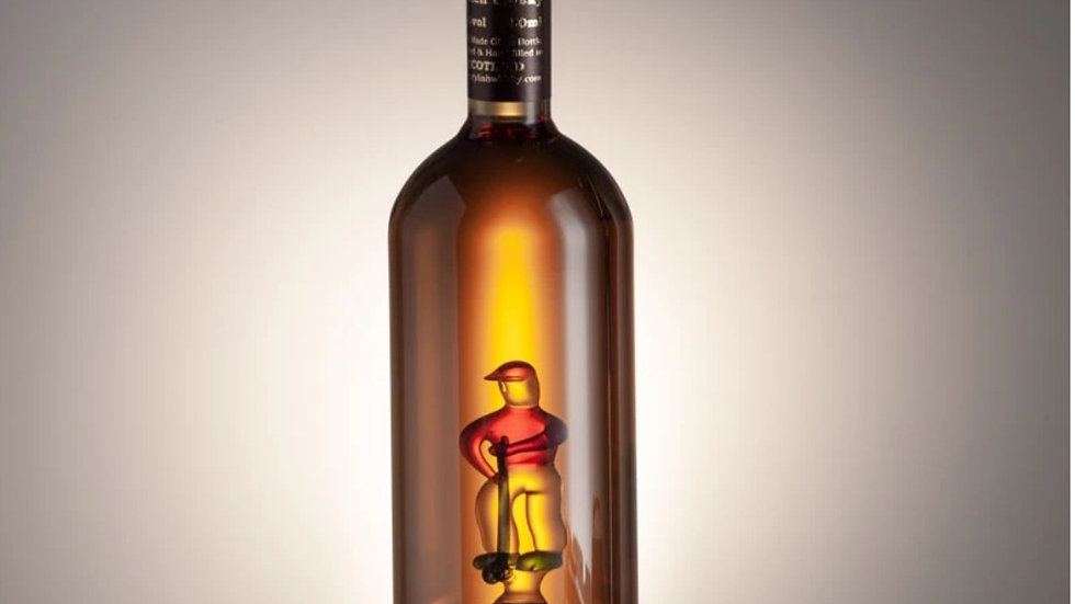 GOLFER IN A BOTTLE WITH DECANTER TAP