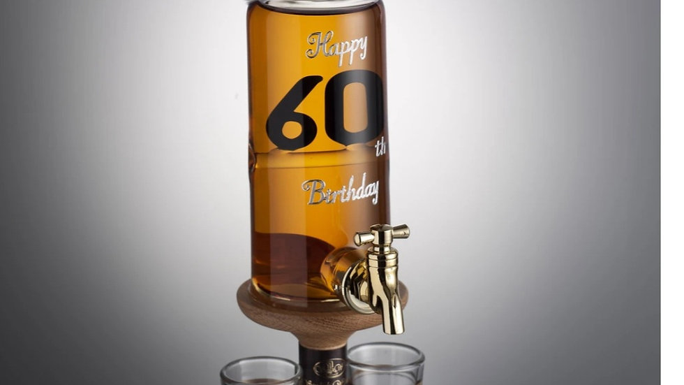 SPECIAL BIRTHDAY BOTTLES WITH DECANTER TAP