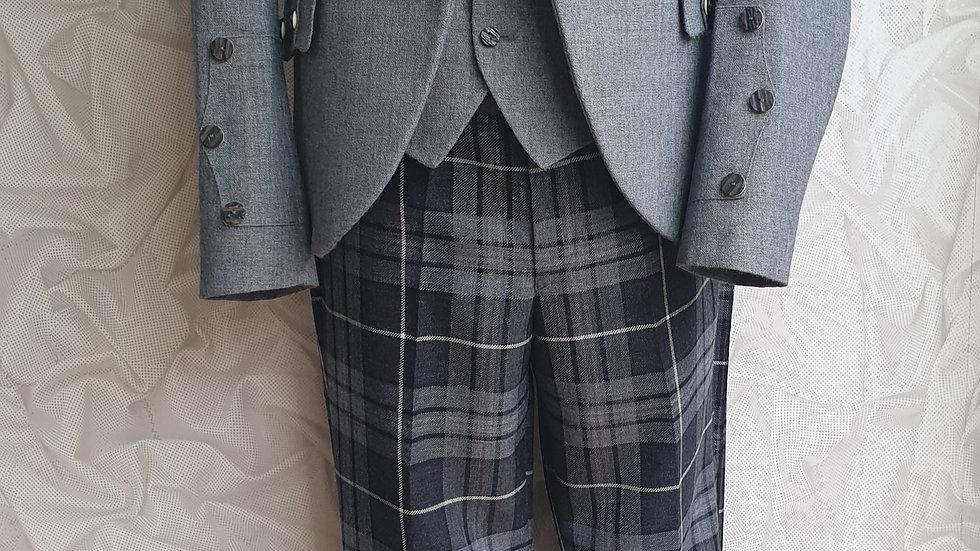 (HIRE) : HIGHLAND DRESS KILT OUTFIT HEBRIDEAN GRANITE TARTAN