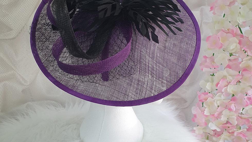 purple & black facinator