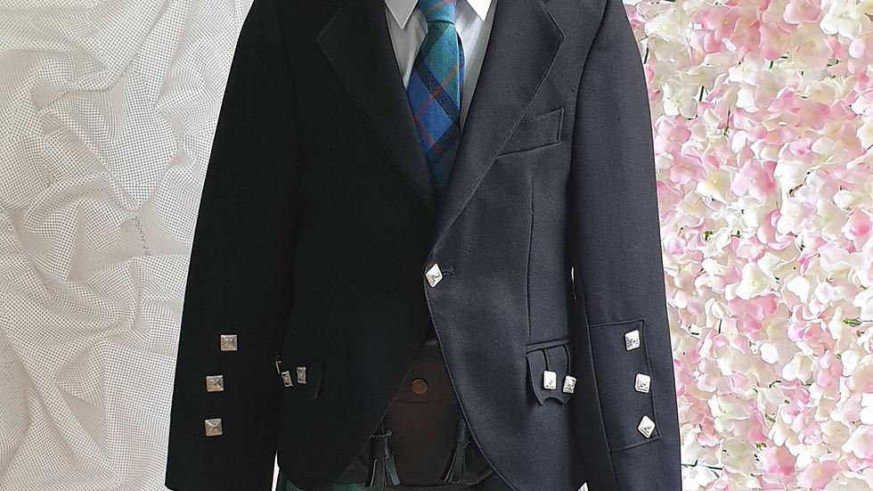(HIRE) : KIDS  FULL HIGHLAND DRESS OUTFIT FLOWER OF SCOTLAND TARTAN