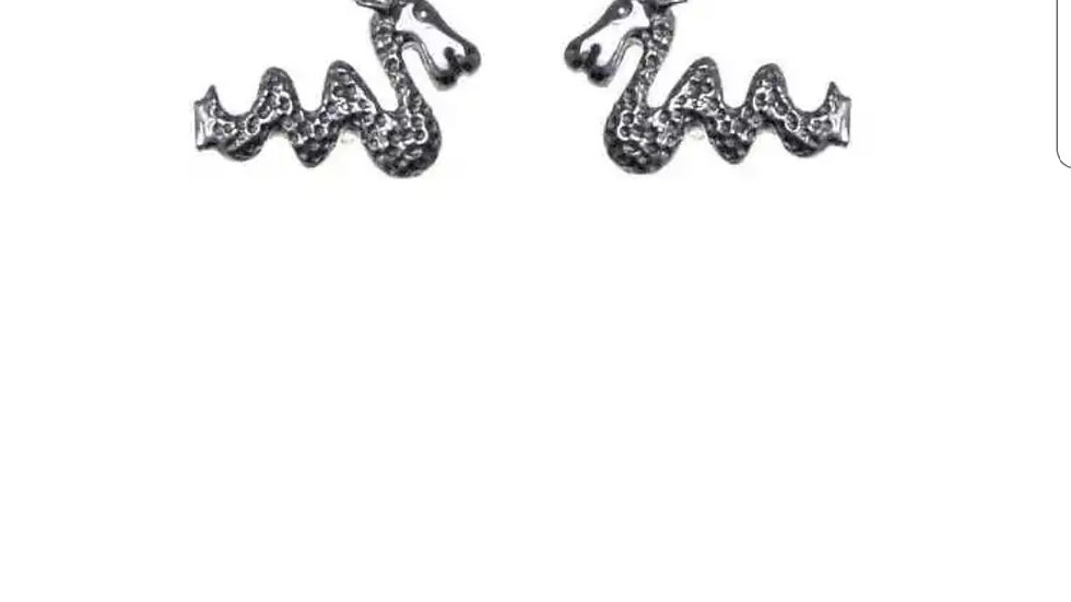 925 STERLING SILVER NESSIE EARRINGS