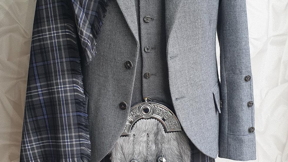 (HIRE) : FULL HIGHLAND DRESS KILT OUTFIT ANTIQUE SCOTLAND TARTAN