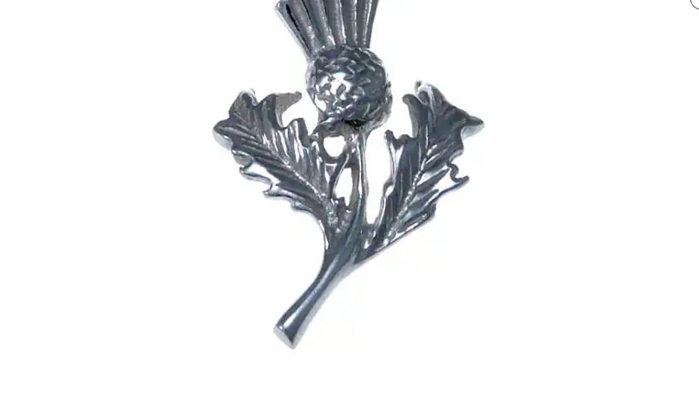925 STERLING SILVER THISTLE PENDANT