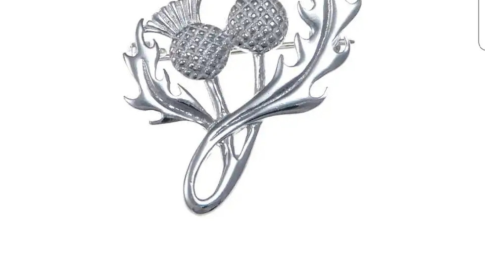 925 STERLING SILVER THISTLE BROOCH
