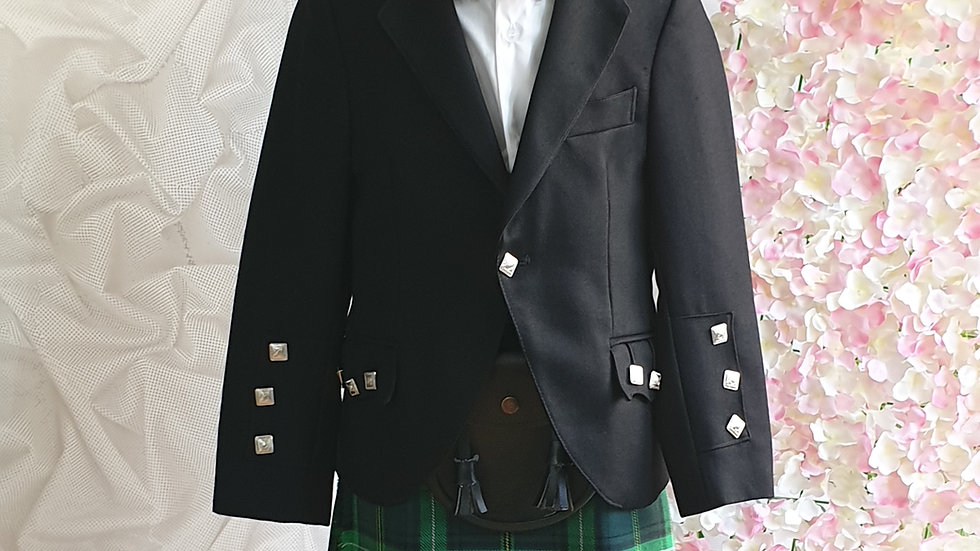 (HIRE) :  KIDS FULL HIGHLAND DRESS OUTFIT CELTIC TARTAN