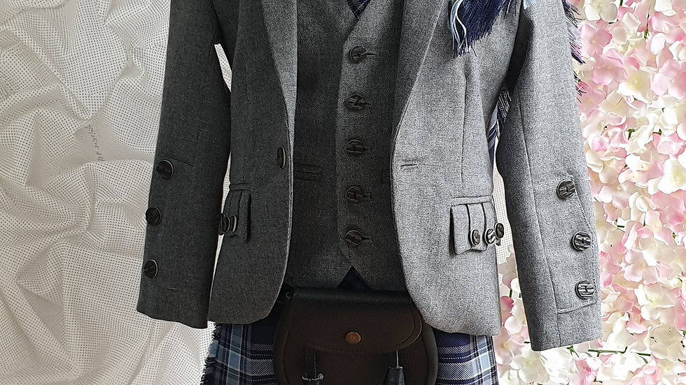 (HIRE) : KIDS  FULL HIGHLAND DRESS OUTFIT PRIDE OF THE CLYDE TARTAN