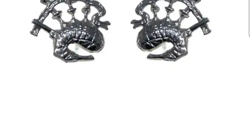 925 STERLING SILVER BAGPIPE EARRINGS