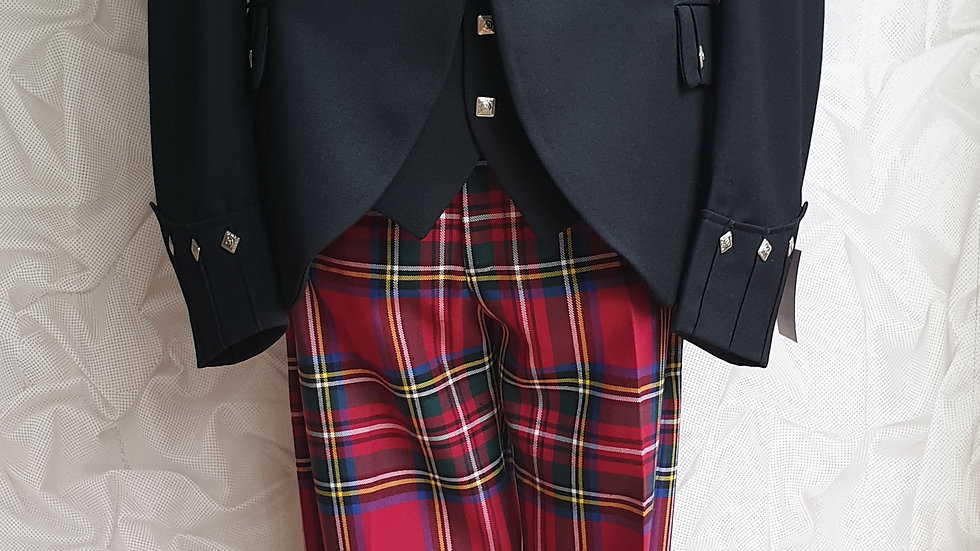 (HIRE) :HIGHLAND DRESS OUTFIT ROYAL STEWART TARTAN