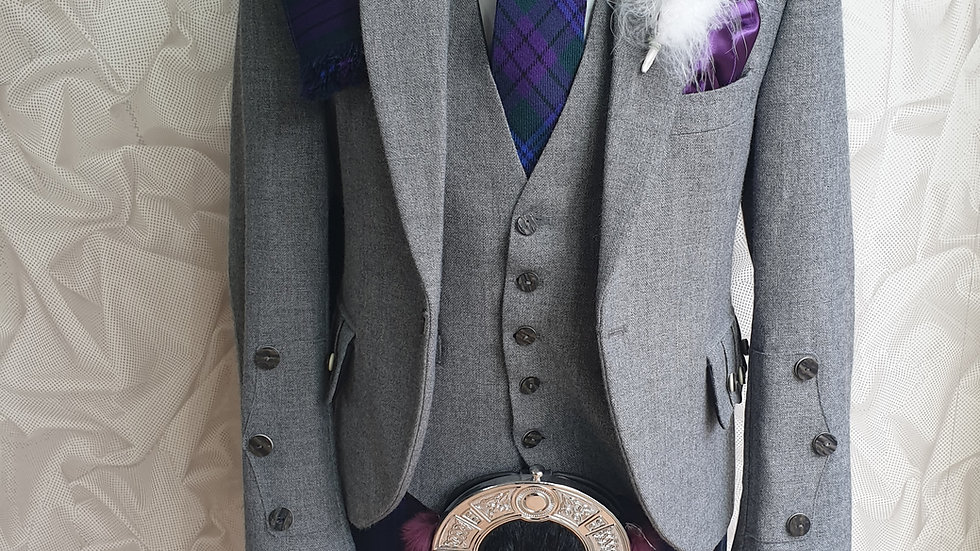(HIRE) : FULL HIGHLAND DRESS KILT OUTFIT SPIRIT OF SCOTLAND TARTAN