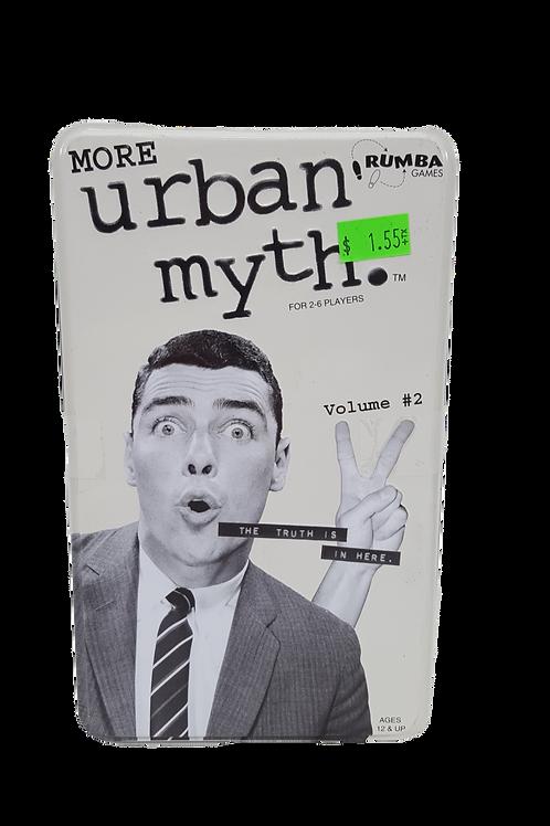 More Urban Myth