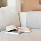 Notebook on sofa