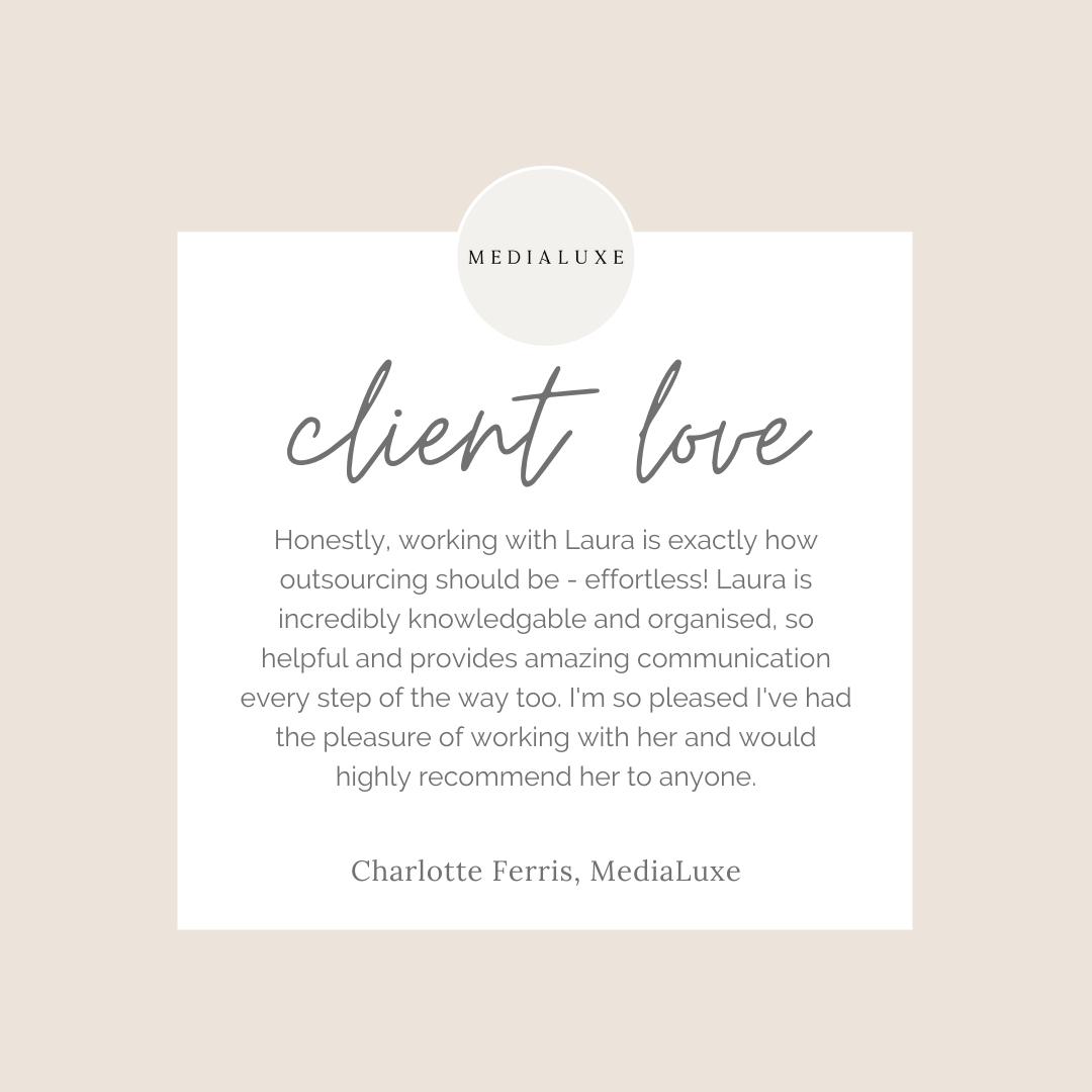 Client Love MediaLuxe