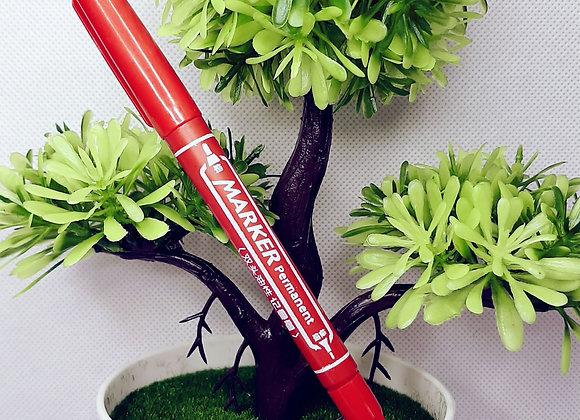 Красная ручка-фломастер двухсторонний
