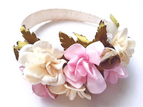 Pink spring headband