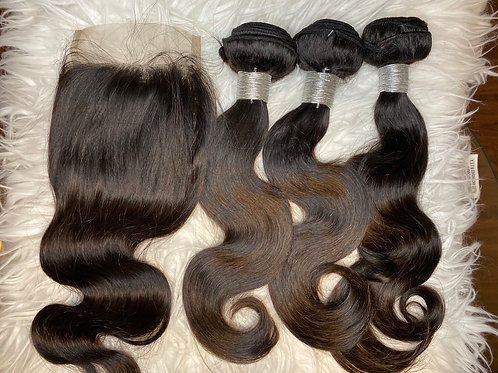 3 BUNDLES+CLOSURE DEALS