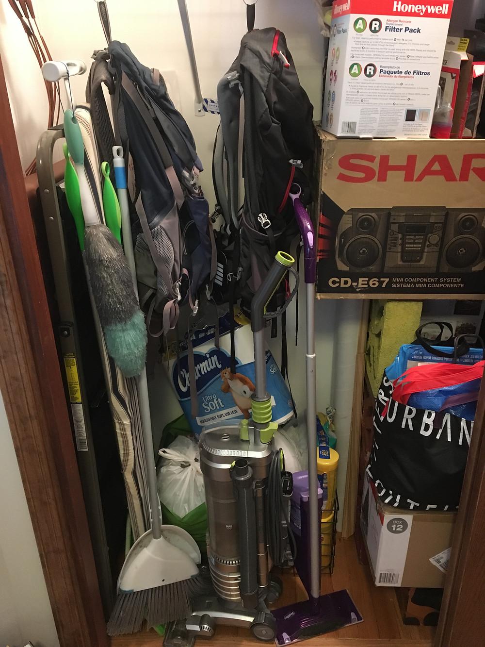 closet storage before
