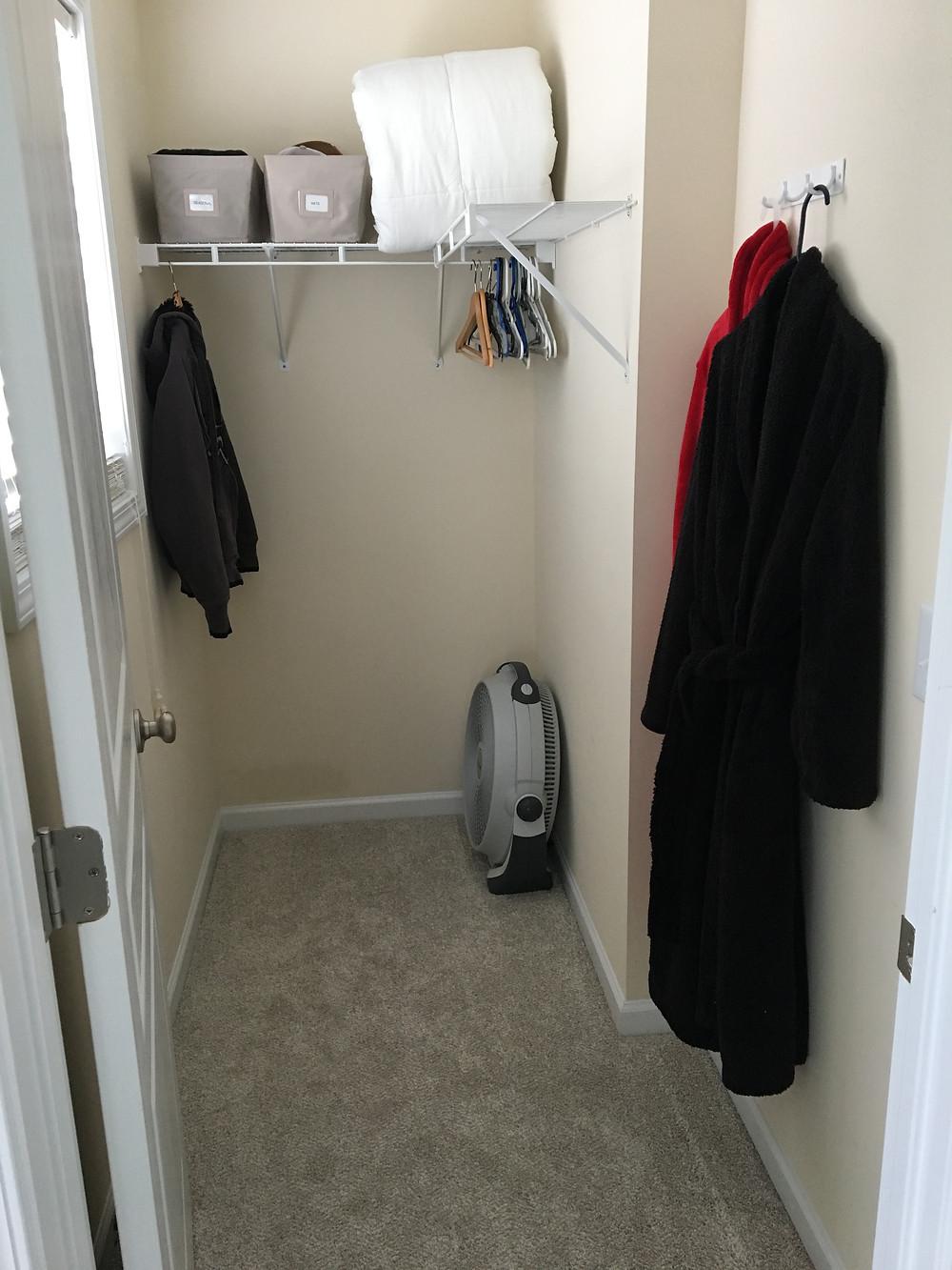 Guest Closet after