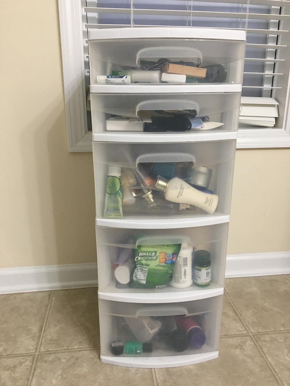 toiletries storage