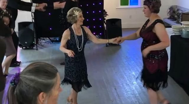 I taught swing dance at wedding receptio