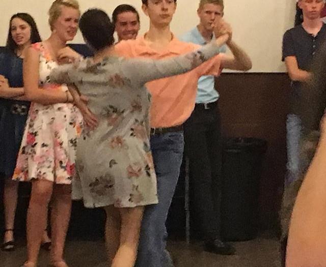 50 kids enjoyed dancing, snowballs, line