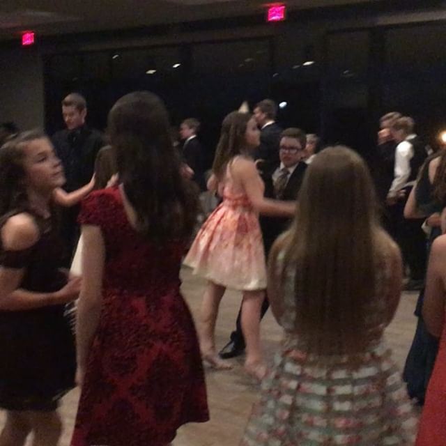 Having a great time at the Formal Ball—a