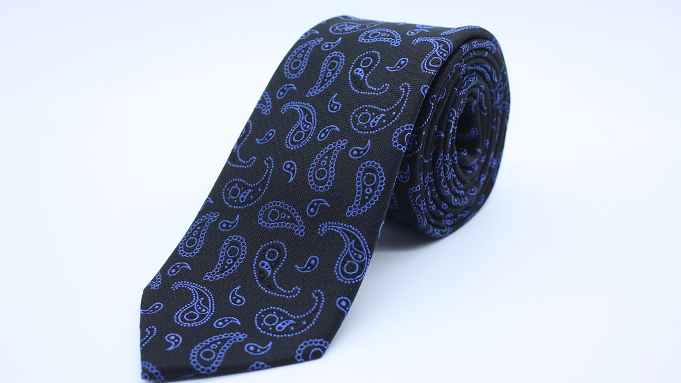 Black/Blue Paisley