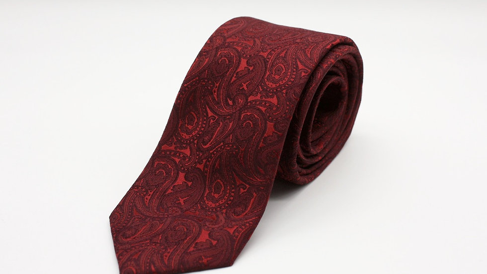 Dark Red Paisley