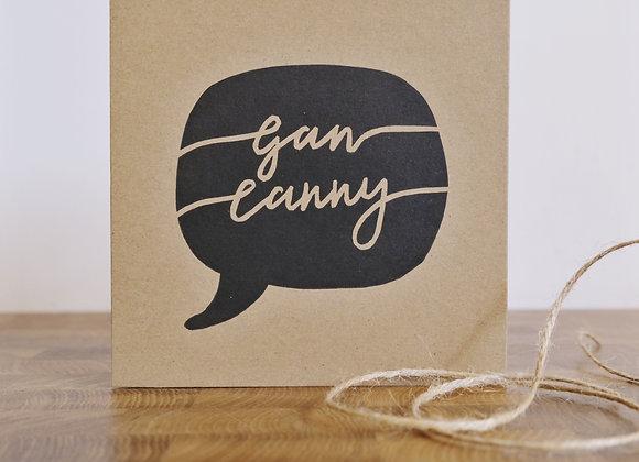 Gan Canny   Lino Print   Greetings Card