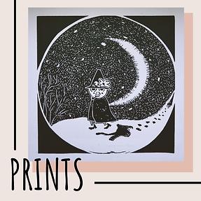 Shop handmade lino print prints by freelance artist Becci Kidd Studio