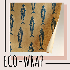 Shop handmade lino print eco-friendly wrapping paper by freelance artist Becci Kidd Studio