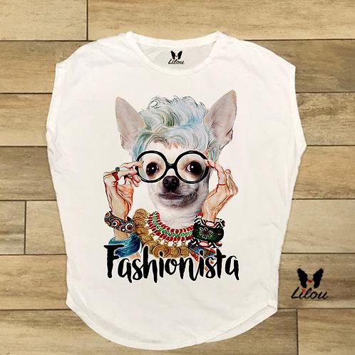 T-shirt donna OVETTO - CHIHUAHUA FASHIONISTA