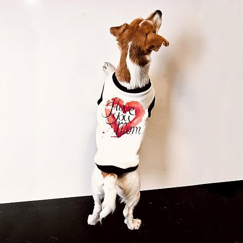 Felpa Bulldog francese Love Mom