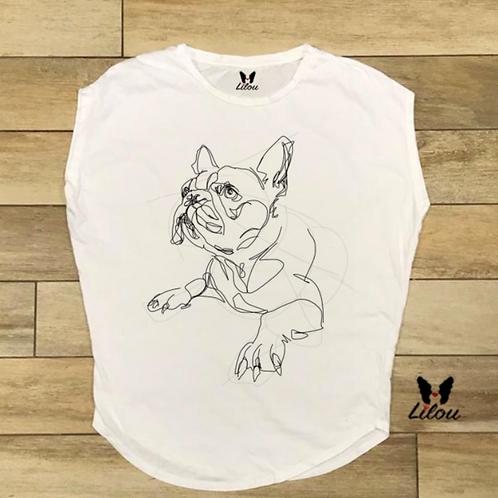 T-shirt donna OVETTO - BULLDOG SKETCH