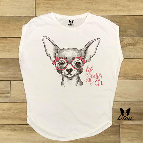 T-shirt donna OVETTO - LIFE WITH CHI