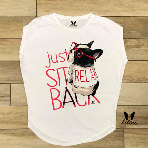T-shirt donna OVETTO - BULLDOG RELAX