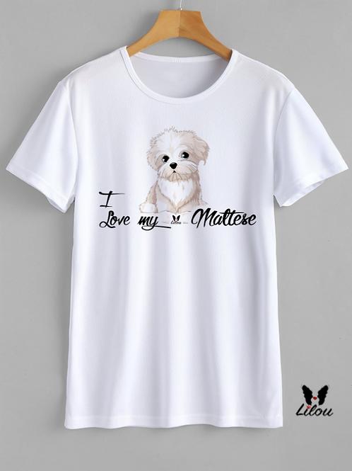 T-shrit DONNA CONFORT - LOVE MALTESE