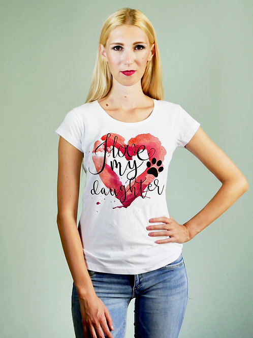 T-shirt donna Love my Doughter