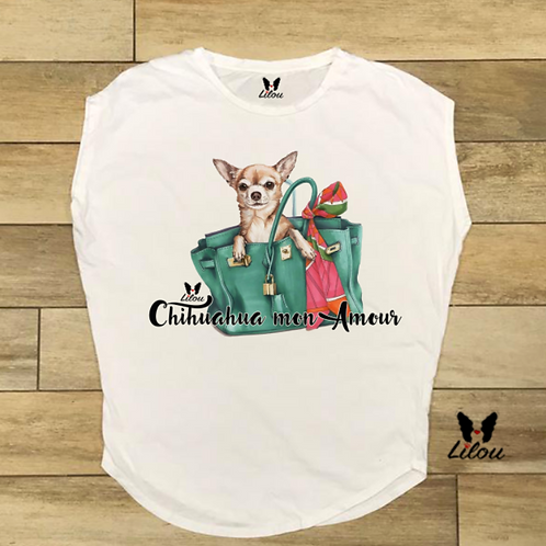 T-shirt donna OVETTO - CHIHUAHUA MON AMOUR
