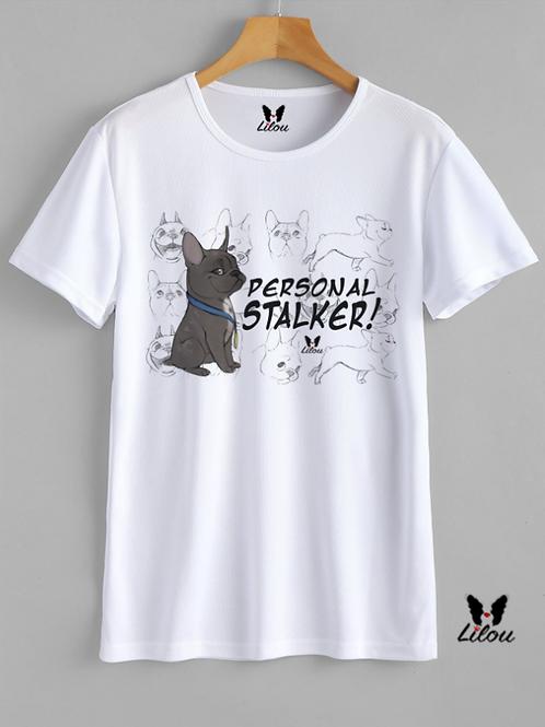 T-shirt UNISEX - BULDDOG FRANCESE - PERSONAL STALKER