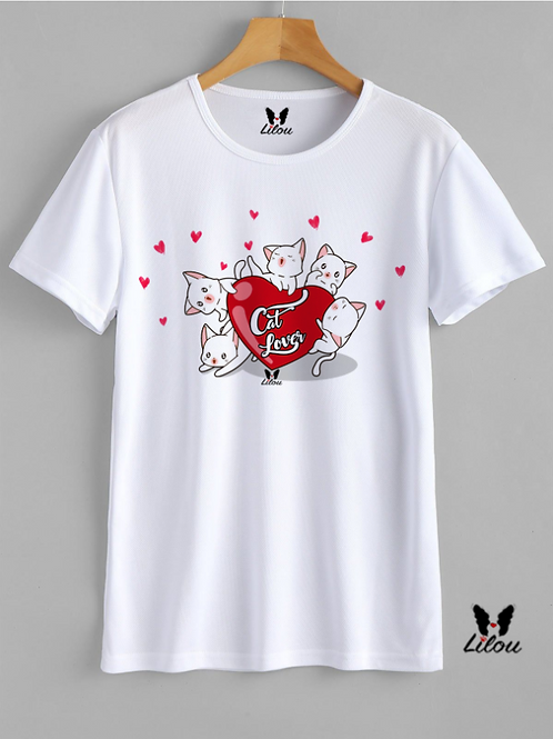 T-shrit DONNA -CAT LOVER