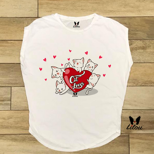 T-shirt donna OVETTO - KITTEN LOVERS