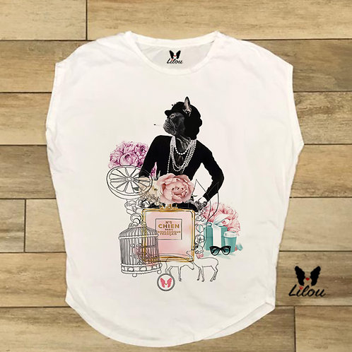 T-shirt donna OVETTO CHANEL
