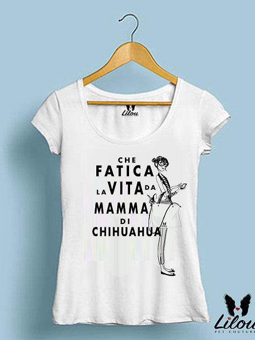 T-shirt slim fit donna CHE FATICA LA VITA