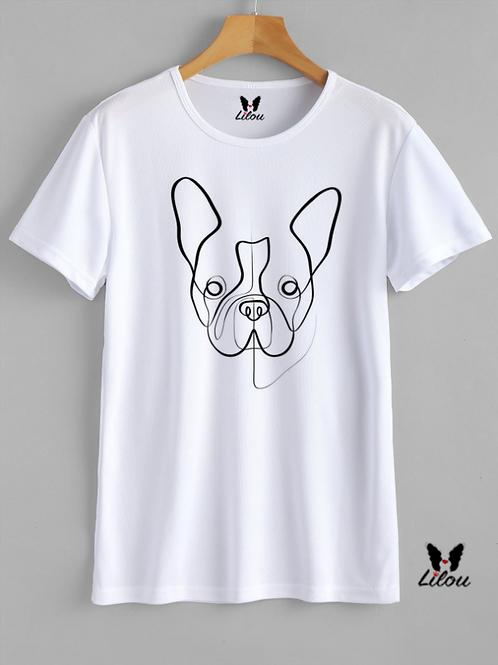 T-shirt UNISEX - BULLDOG FRANCESE - LINE