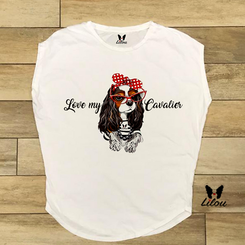 T-shirt donna OVETTO - LOVE CAVALIER KING