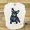 Thumbnail: T-shirt donna OVETTO - BULLDOG WATERCOLORS