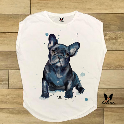 T-shirt donna OVETTO - BULLDOG WATERCOLORS