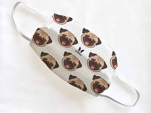 MASK - PUG PORTRAIT PATTERN