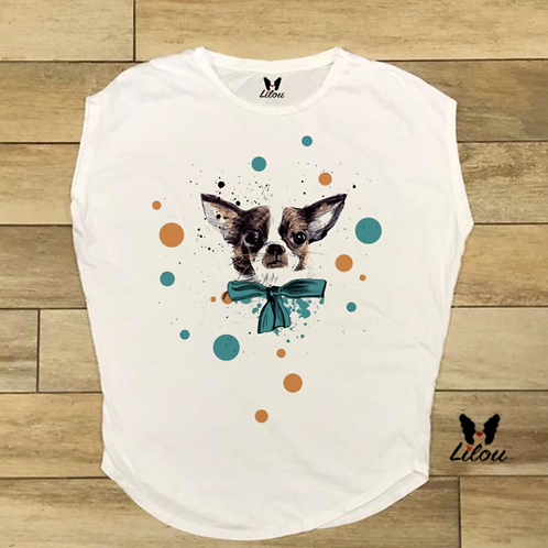 T-shirt donna OVETTO - CHIHUAHUA BALOON